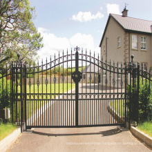 Hot Sale Beautiful Residential Wrought Iron Gate Designs Welded house gate metal aluminium gate designs