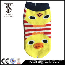 Cotton Women Girl Cartoon Face Short Boat Sock