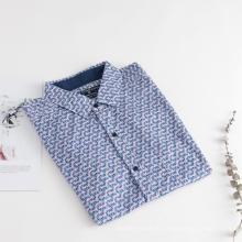Мужские рубашки с короткими рукавами и геометрическим принтом