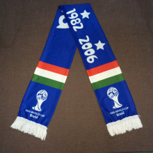 Foulard de football promotionnel EUFA FIFA Foulard en polyester tricoté Italie