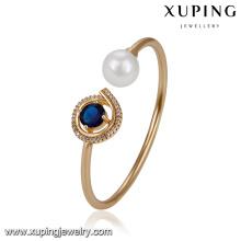 51721 Xuping Jewelry Pearl Bangle para mujeres con chapado en oro