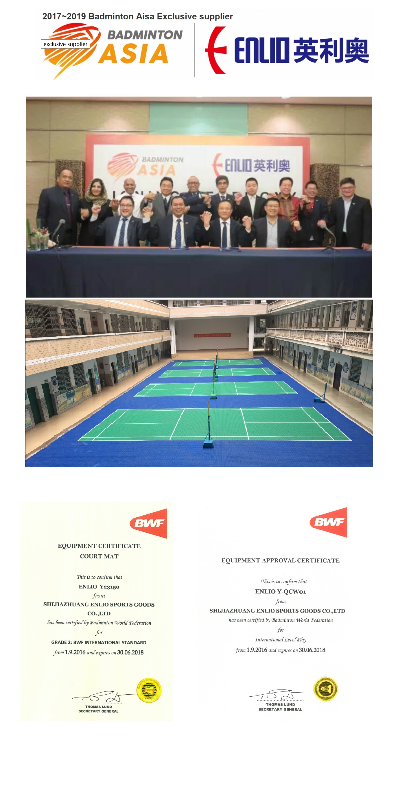 Enlio Badminton Flooring