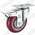 Roulette pivotante en polyuréthane à usage moyen (G3201)
