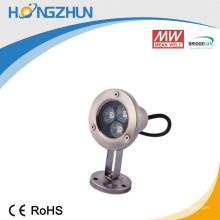 Convertisseur de courant constant incorporé 3w lampe de lumière sous-marine ip68 aluminium circulant