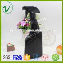 Vaporizador plano vazio spray preto 500 hdpe bottle bottle plastic bottle
