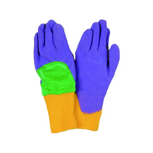 Interlock Liner Latex Coatted Knitted Wrist Glove