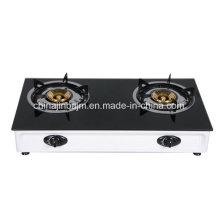 2 Burners Tempered Glass Top Stainless Steel Table Top Gas Cooker/Gas Stove