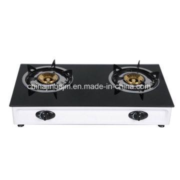 Cuisinière à gaz / cuisinière à gaz en acier inoxydable à 2 brûleurs en vitrocéramique