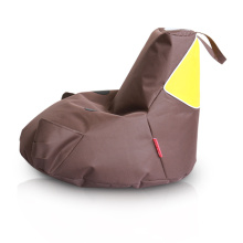 Brown piggy bean bag chair for kids