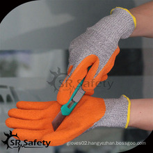 SRSAFETY orange latex coated cut resistant hand gloves/gloves latex manufacture