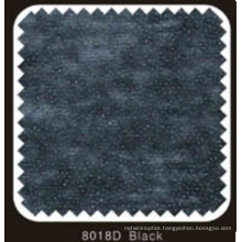 Black Color Non Woven Double DOT Fusible Interlining with PA Powder (8018D black)