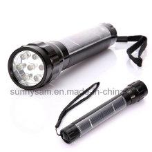 Lampe-torche solaire portative de LED avec 7PCS superbe LED lumineuse