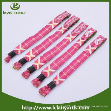 Promotion Armband / benutzerdefinierte Festival Stoff Wristbands / gewebte Wristband
