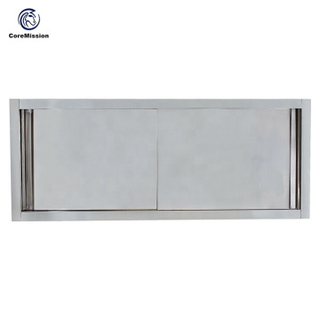 Sliding Door Stainless Steel Commercial Restaurant Hanging Kitchen Cabinet