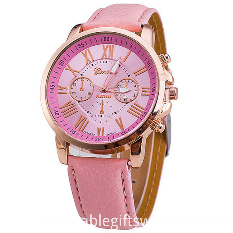 women leather watch