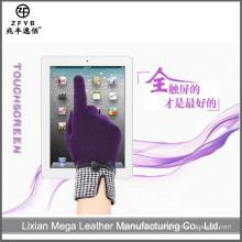 ZF5333 Mulheres de alta qualidade novas luvas de lã de tela de toque