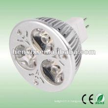 Projecteur LED 3W MR16 pour moto