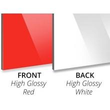 Panel compuesto de aluminio 2440 * 1220 mm 3 mm Núcleo de PE rojo brillante