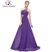 Drop shipping Grace Karin Sleeveless One Shoulder Floor Length Beaded Weddings Bridesmaid Dresses CL2949-4