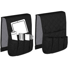 Non-Slip Couch Sofa Receive Bag Armrest Organizer 5 Pockets Chair Armrest Non-Slip Storage Bag