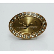 Profissional Fabricante Metal Diamond Gold Lapel Pin (badge-074)