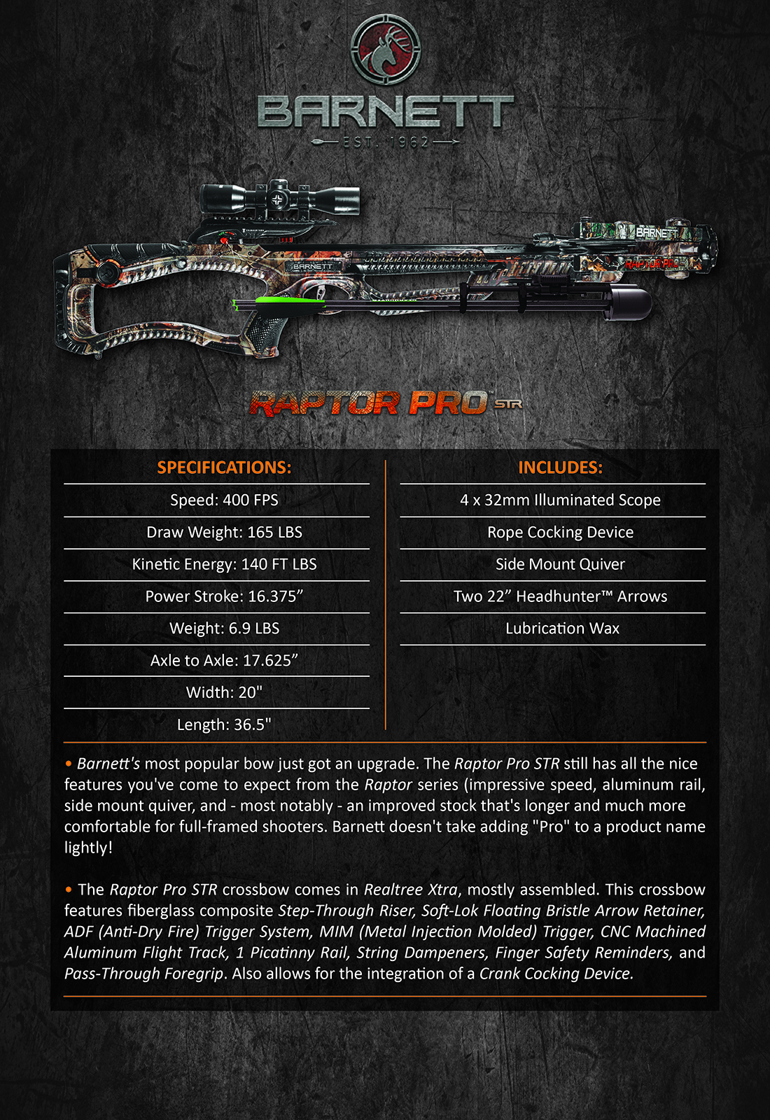 Barnett_Raptor_Pro_STR_Product_Description