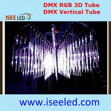 Tubo Vertical LED com Efeito 3D para Night Club