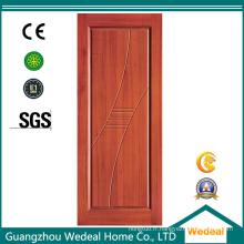 Porte en bois solide panneau moderne pour salle familiale avec E1