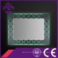 Espejo retroiluminado del cuarto de baño del rectángulo LED del diseño 2016 con la base cristalina