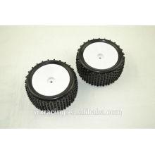 Pneus para carro Buggy Rc traseira, roda para carro Rc 1/10, pneus para brinquedos Rc