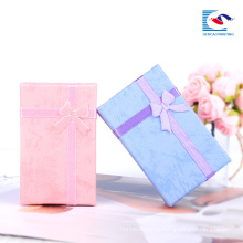 comprar caja de presentación de collar de joyería rosa joyería cajas de embalaje suministros