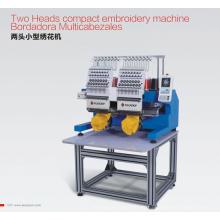 Machine à broder compacte Elucky à deux têtes d'EG1502CSA pour broderie de casquettes