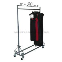 Altura Ajustada Vestuário Vestuário Rack com rodízios Roupa Stand