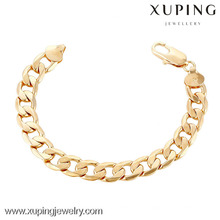 70243 Xuping New fancy gold plated hand chain bracelet