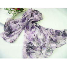 Embroidery sequin scarf