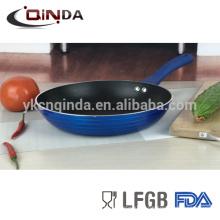 Poêle à revêtement antiadhésif bleu metallica avec induction