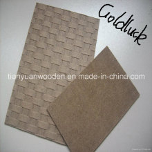 Panneau duron brun foncé 1220 * 2440mm avec surface lisse et arrière rugueux