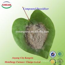 Desoxidante compuesto para aumentar el rendimiento de la aleación en el proceso de fabricación de acero