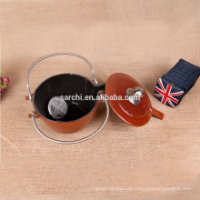 Nuevos productos personalizados tetera de esmalte para la ama de casa