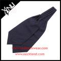 China Manufacturer Polyester Jacquard Woven Polka Dot Ascot Tie Cravats for Men