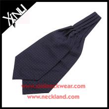 Chine Fabricant Polyester Jacquard Tissé Polka Dot Ascot Cravates Cravates pour Hommes