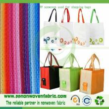 Tissu 100% de polypropylène non-tissé utilisé pour des sacs à provisions