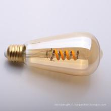 le filament ambre doux de lampe de LED LED ST45 220-240V 4W
