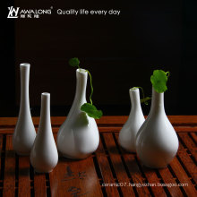 white tableware living room decoration vase / pretty table ceramic home decor vase