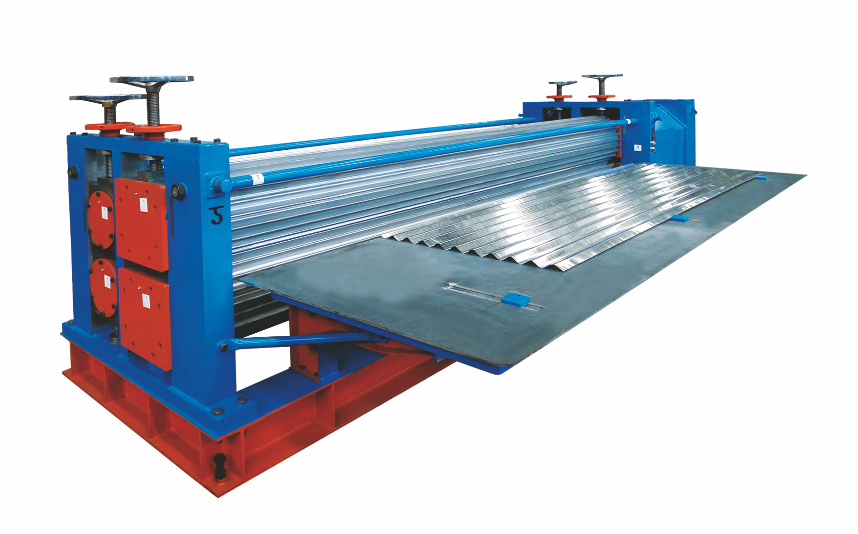 corrugated iron machine