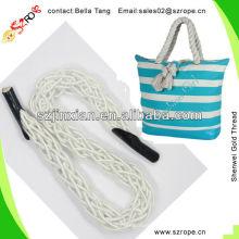 Fashion Canvas Tote Bag Rope Handle