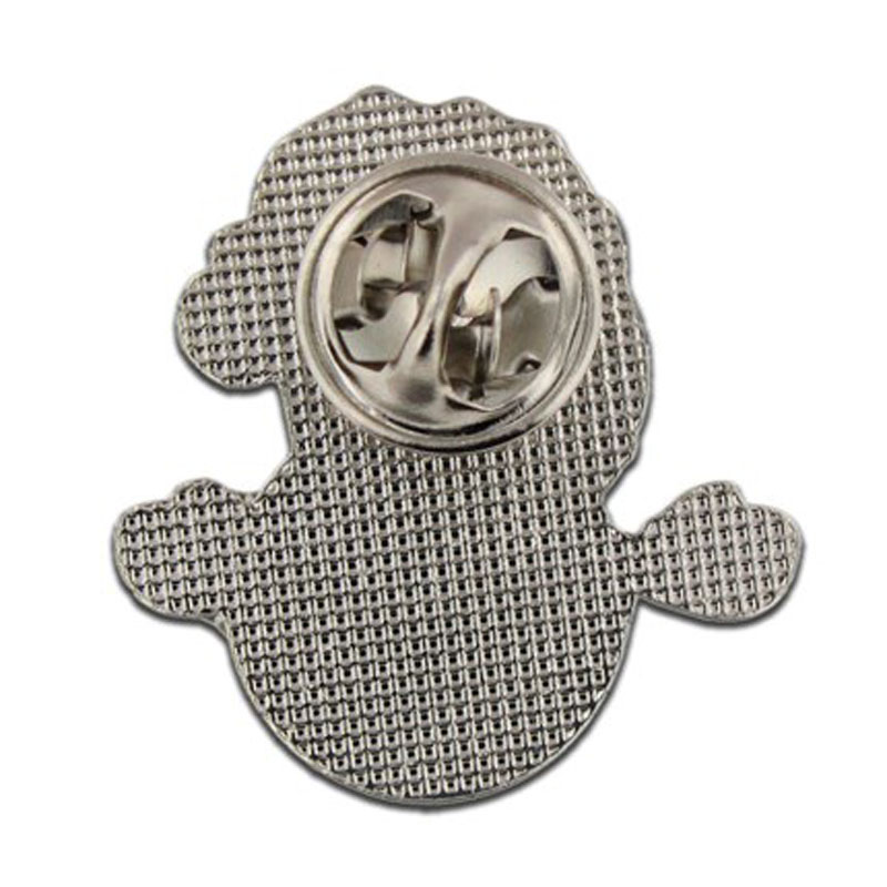 Christmas Snowman Glitter Lapel Pin Made by Iron