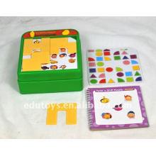 Heißer Verkauf farbiges pädagogisches Plastikpuzzlespiel für Kinder
