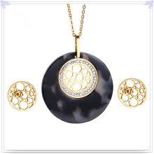 Accessoires de mode Bijoux fantaisie Ensemble de bijoux en acier inoxydable (JS0252)