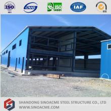 Bâtiment en acier préfabriqué pour l'entrepôt de structure métallique